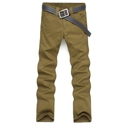 Casual Slim Denim Jeans Trousers for Men - Black Olive Beige