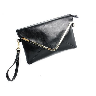 Enveloppe Clutch Purse for Women with Gold Metal Lining