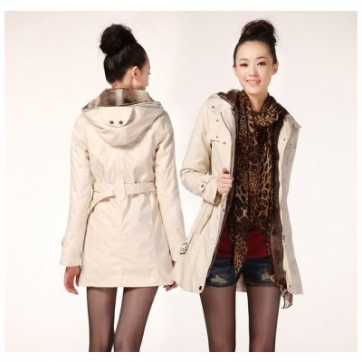 Women's Winter coat with Detachable Inside Fur Classic Fashion