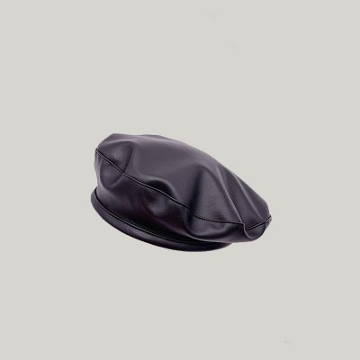 Vintage Pu beret for women