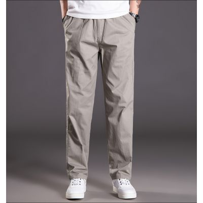 Baggy cotton cargo pants for men