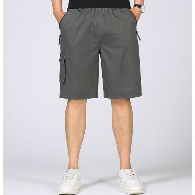 Cargo Bermuda Shorts with side pockets light cotton mid-length