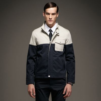 Men's short Dual Color Jacket with a chest pocket