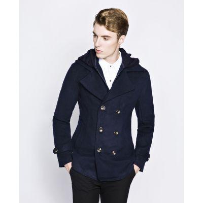 Men's Winter Jacket with Trendy Knit Hood