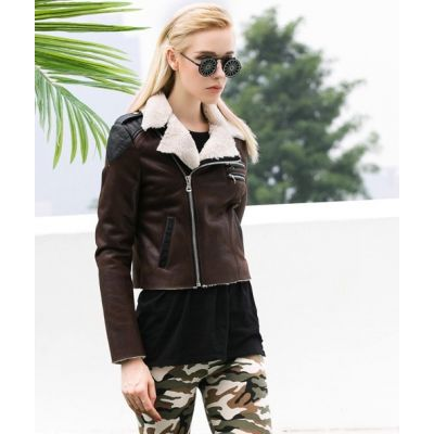 Perfecto Biker Jacket for Women with Shearling Collar
