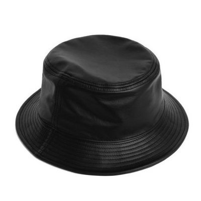 Smooth Faux Leather Bucket Hat Streetwear Swag for Men or Women