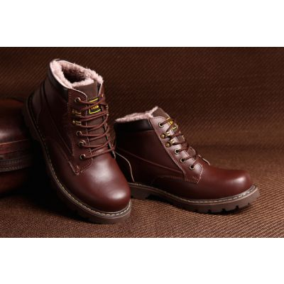 Winter Work Boots for Men with Interior Fur Lining