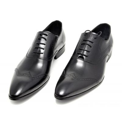 Business Shoes for Men with Bostonian Perforation Design - Black