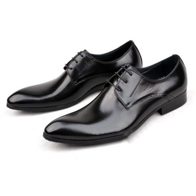 Classic Style Lace Up Dress Shoes for Men - Black