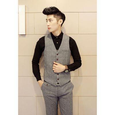 Waistcoat vest for Men Tweed British Vintage