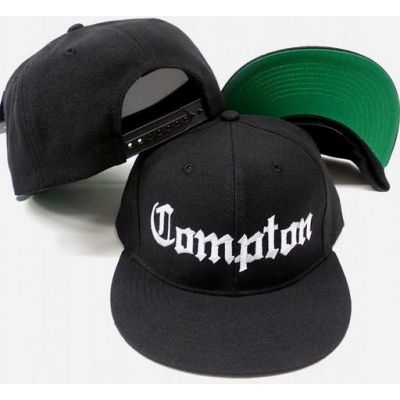 Compton Snapback Baseball Cap with Gothic Font Eazy E Hat