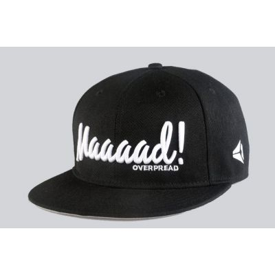 Maaaad Embroidered Snapback Baseball Cap Black and White