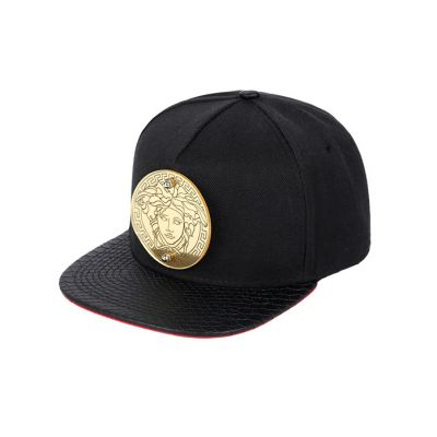 Medusa Snapback Cap with Chunky Gold Medallion