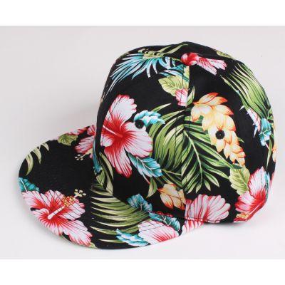 Flower Print Baseball Snapback Cap for Men or Women