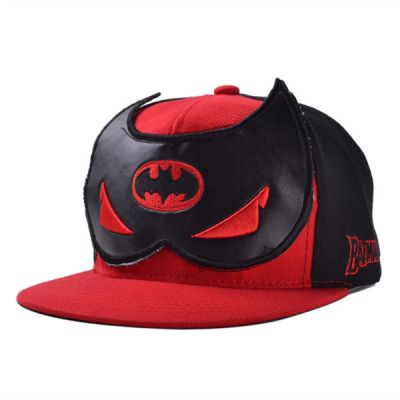 Batman Mask Snapback Cap Comics Red Black