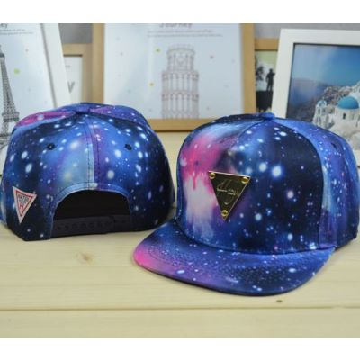 Snapback Baseball Cap with Hater Gold Plaque Galaxy Cosmic Print