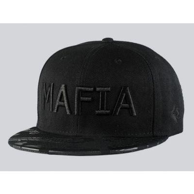 Mafia Embroidered Snapback Baseball Cap Black on Black