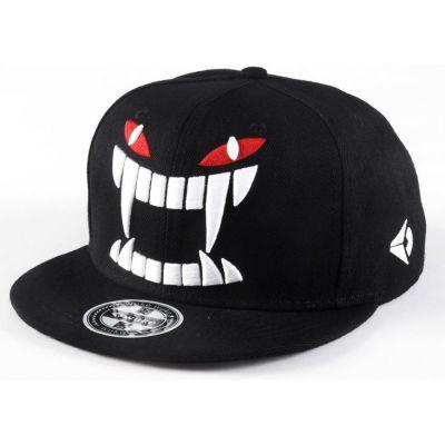 Monster Head Snapback Streetwear Cap with Red Eyes