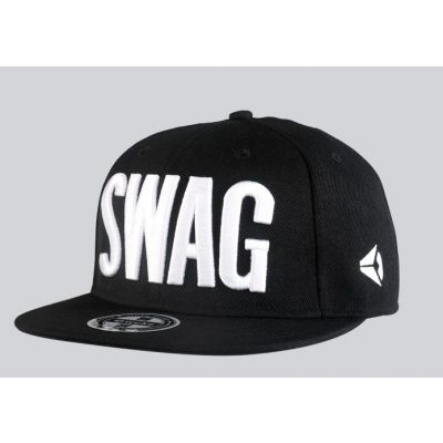 Snapback Hip Hop Cap with SWAG Block Print Embroidery