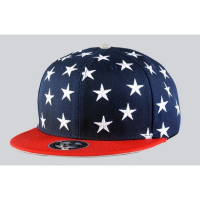 USA Flag Snapback Cap with Stars and Stripes Design
