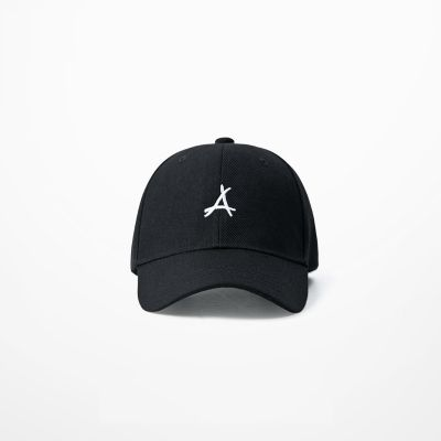Baseball cap with embroidered manuscript  A