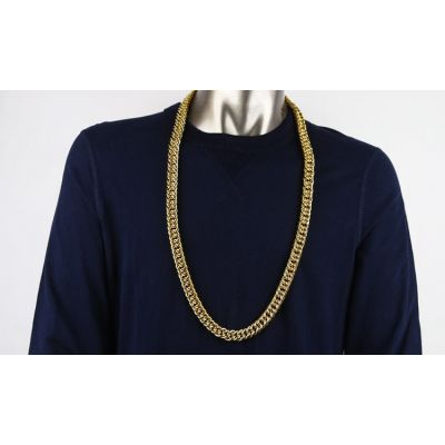 Gold Plated Hip Hop Chain Necklace with Thick Links
