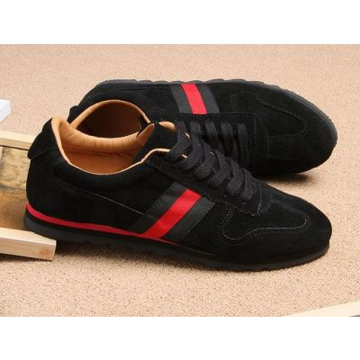 Vintage sports Sneakers for Men Low Top with Color Stripe