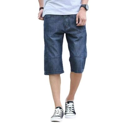 Classic denim shorts for men