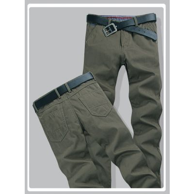 Straight cut denim Jeans pants for men - Dark green