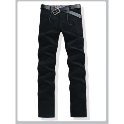 Men's jeans with fleece lining inside for winter season - Black