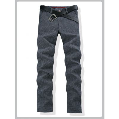 Tweed style pants for men Classic Casual Trousers - Grey