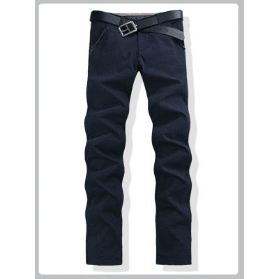 Straight slim fit Jeans for Men Denim Pants - Blue