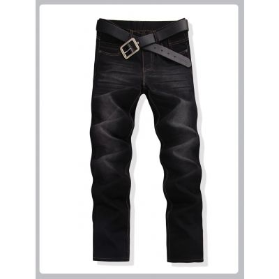 Washed out Slim Fit Denim Jeans for Men - Black