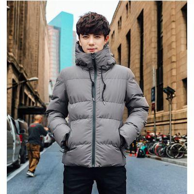 Men's short down jacket with hood
