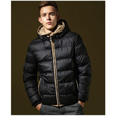 Down jacket for men classic trend winter with hood