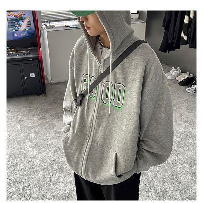 Full-zip hoodie for men