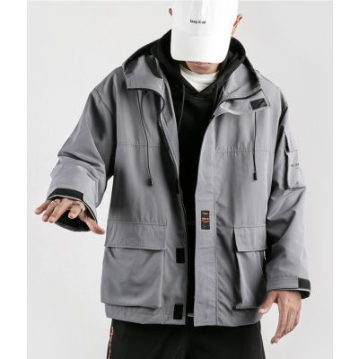 Hooded jacket for men long sleeves
