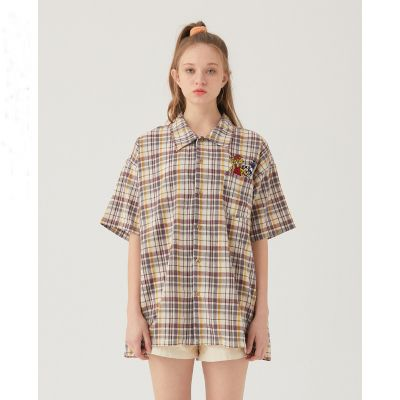 Check shirt short sleeve unisex