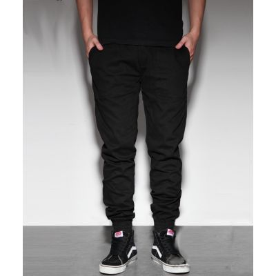 Canvas Jogger Pants for Men with Elastic Ankles Design