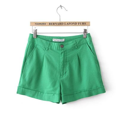 Linen Summer Shorts for Candy Colored Blue Green Orange