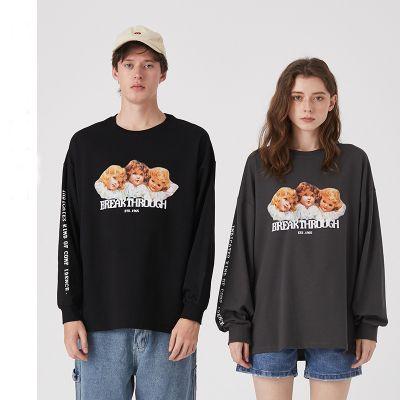 Long sleeve T-shirt with angel print unisex