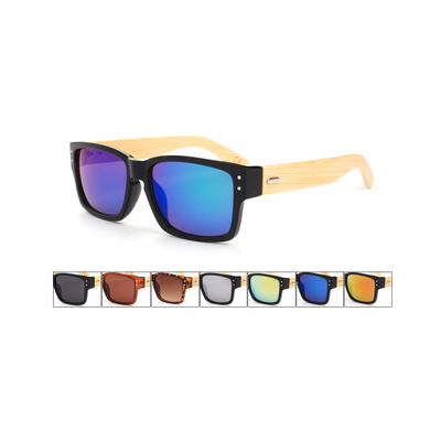 Bamboo Sunglasses with Multiple Color Lenses
