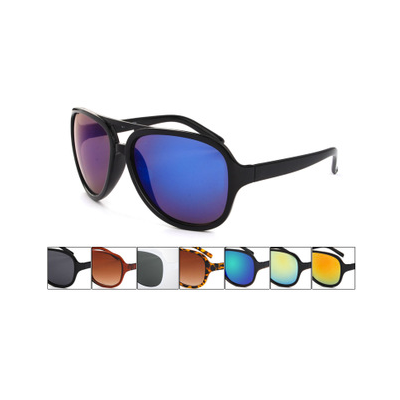 Classic Aviator Sunglasses with Thick Plastic Frame