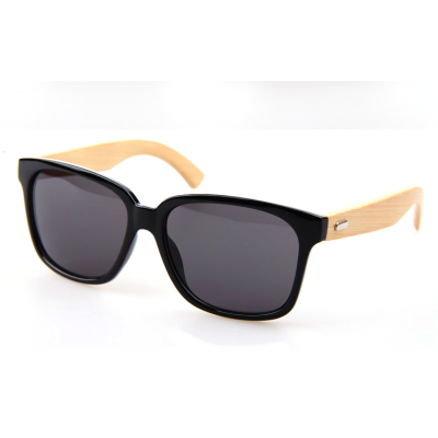 Wayfarer style Sunglasses for Men or Women with Wood Frame