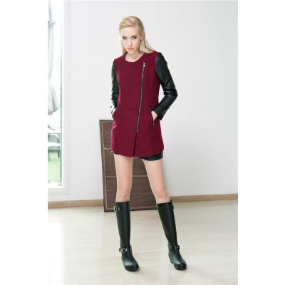 Perfecto Biker Jacket for Women with Leather Sleeves and Wool Body