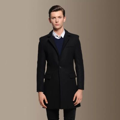 Men's Mid-Length Wool Coat