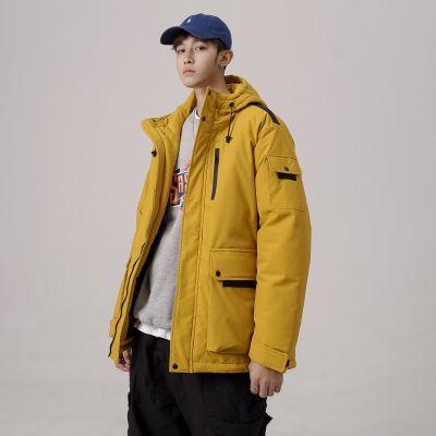 Men's oversized hooded parka
