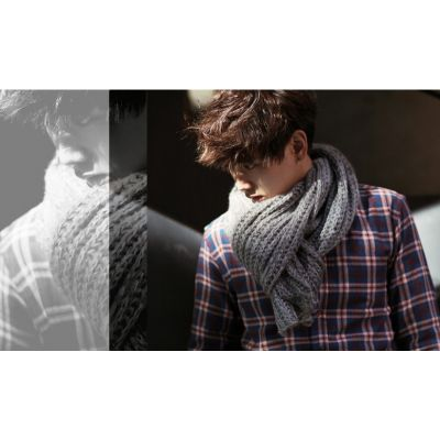 Scarf for man wholesale winter loose knit