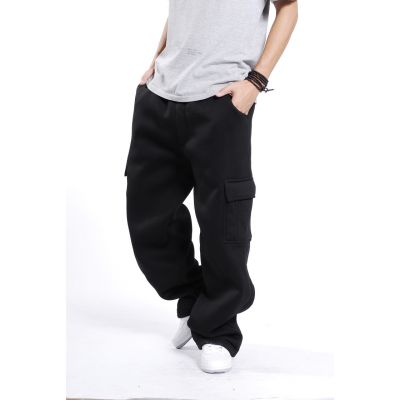 Baggy Cargo Sweatpants for Men with Side Pockets