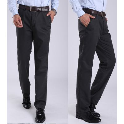 Classic Winter casual men's trousers with fur lining
